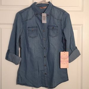 Highway Jeans Tops - Button Front Denim Shirt